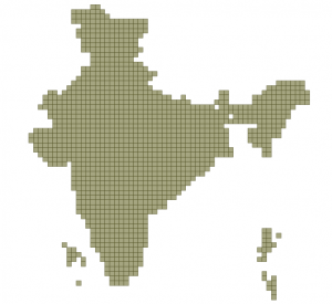 India Gridded Map