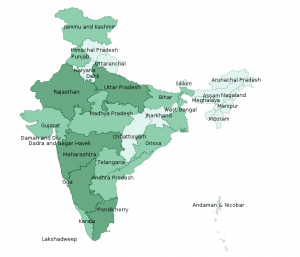 Map of Indian States