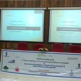gvSIG at FOSS4G India 2015